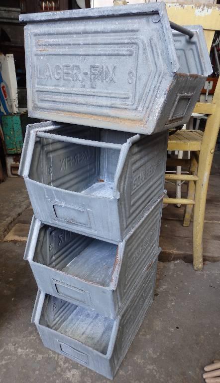 Bac industriel métal LAGER-FIX 3, Mobilier industriel, Mobilier | Puces Privées