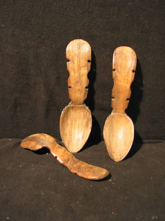 3 cuillères de berger fin XIXème fabriqué par le berger avec les moyens du bord, Art populaire, Collections | Puces Privées