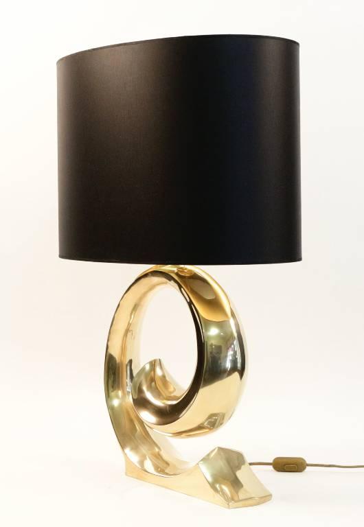 la vague, lampe en bronze 1970, Lampes, Luminaires | Puces Privées
