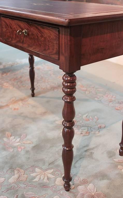 Table-Bureau Louis-Philippe en Acajou XIXe | Puces Privées