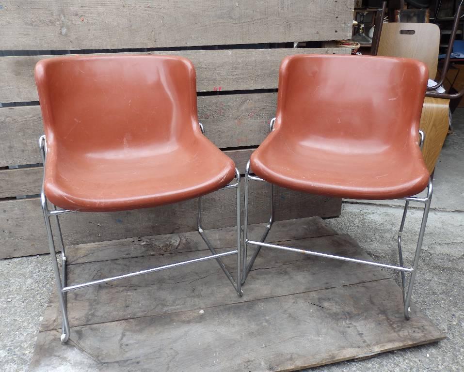 Chaise / fauteuil design orange Artifort | Puces Privées