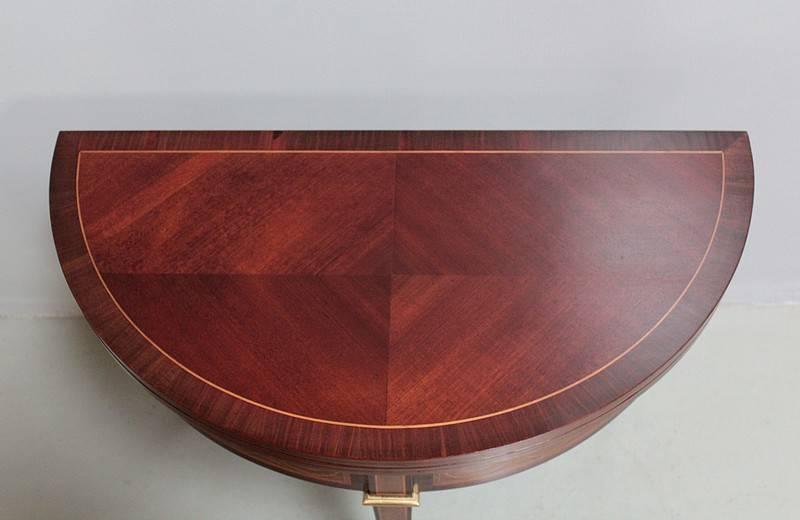 Console-Table à Jeux en Acajou XXeme | Puces Privées