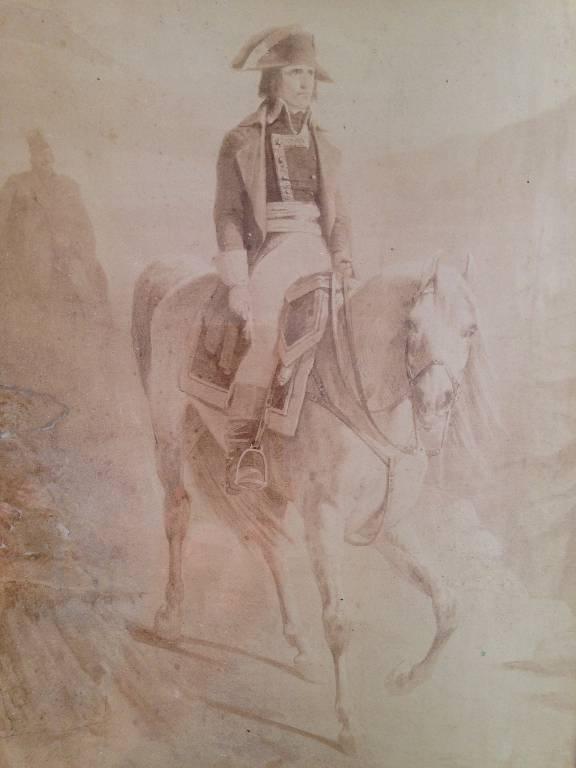 Aquateinte de Napoléon en campagne du XIX siècle | Puces Privées