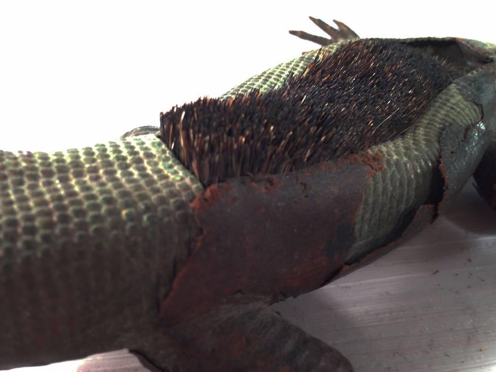 Essuie-plume animalier en bronze et cuir | Puces Privées
