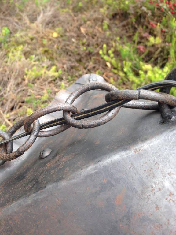 Petite lampe des années 40 en fer forgé | Puces Privées