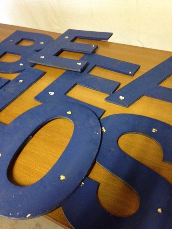 Lot de 14 lettres en plexi bleu | Puces Privées