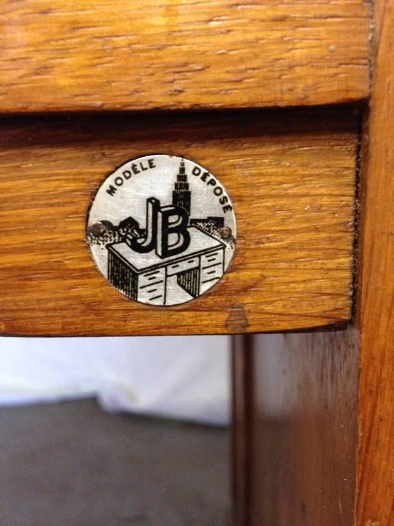 Bureau dit 'Américain ' de marque 'JB' Ca. 1950 | Puces Privées