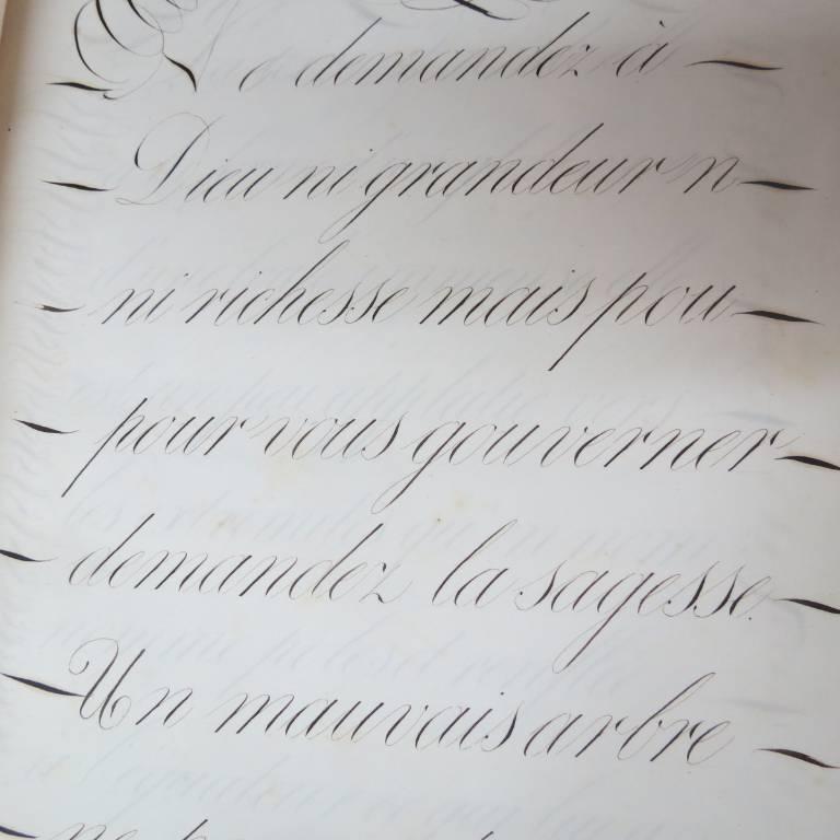 MANUSCRIT. CALIGRAPHIE.  CAHIER D'ECRITURE | Puces Privées
