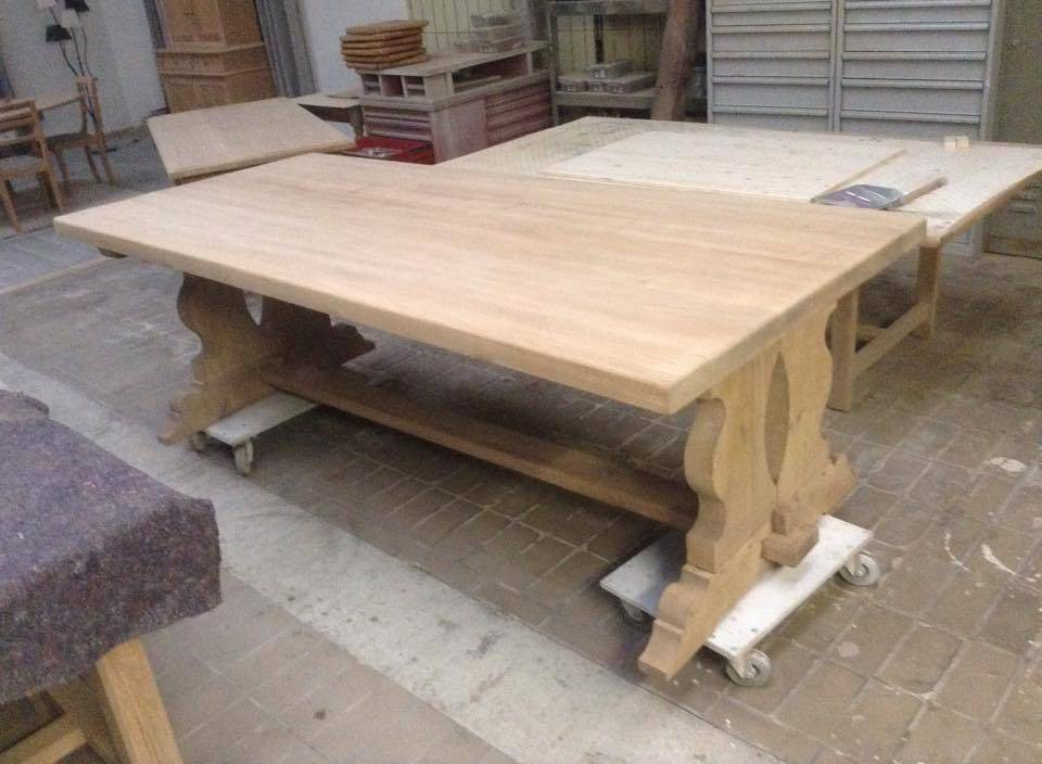 très grande table monastère  de 250 x 108 cm | Puces Privées