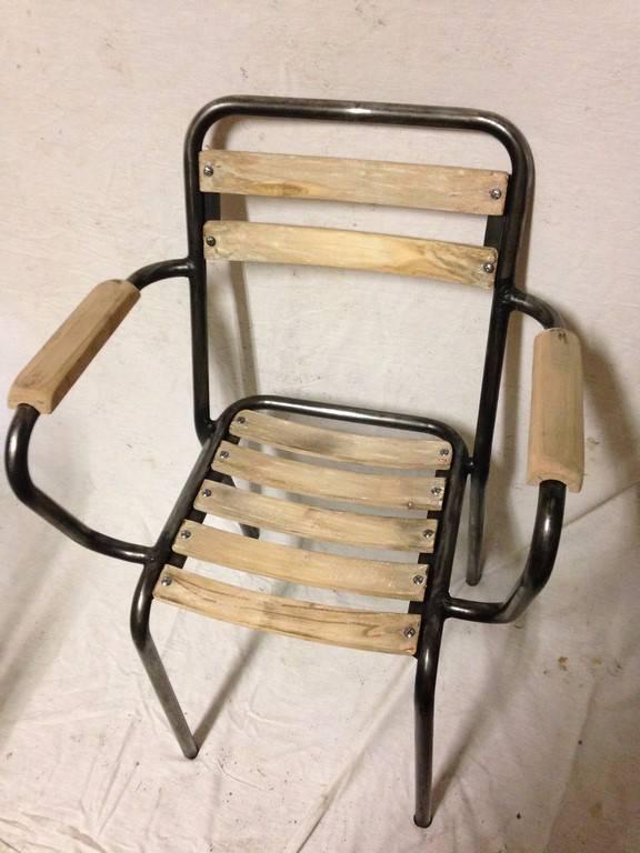 lot de 4 chaises bistro 1950 | Puces Privées