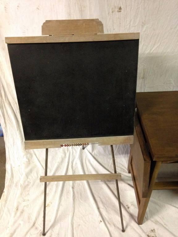 Ensemble petit bureau petit tableau 1950   Puces Privées