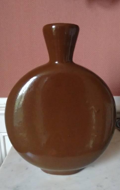Grand vase gourde en émaux de LONGWY décor de Jean LUCE | Puces Privées