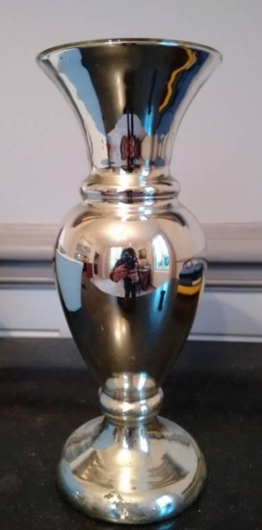 Ancien vase églomisé (XIXème)   Puces Privées
