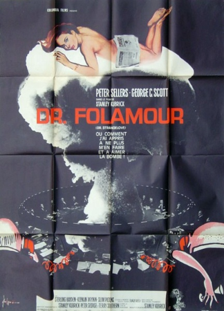 affiche cinéma Docteur Folamour, Affiches anciennes (cinéma, theâtre, publicitaire), Image | Puces Privées