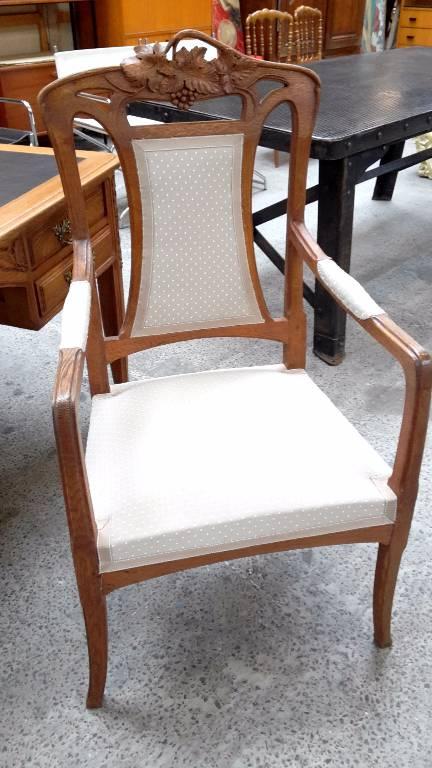 paire de fauteuils epoque art nouveau   Puces Privées