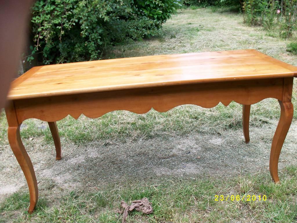 Table de ferme merisier massif, début XIXème siècle