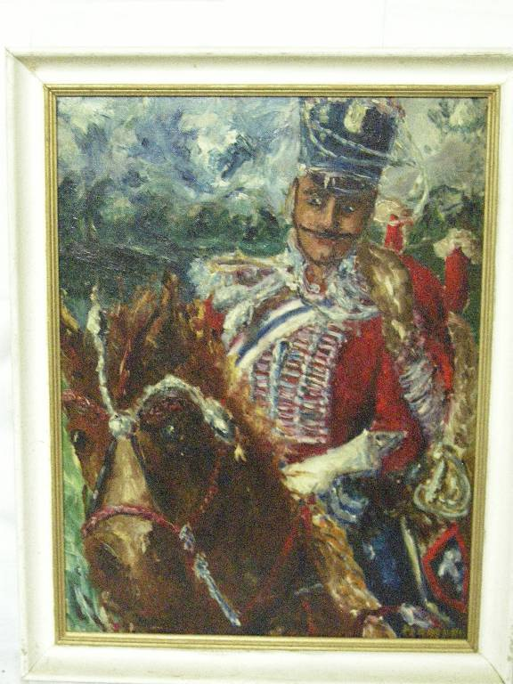 Portrait de militaire à cheval par PERREARD | Puces Privées