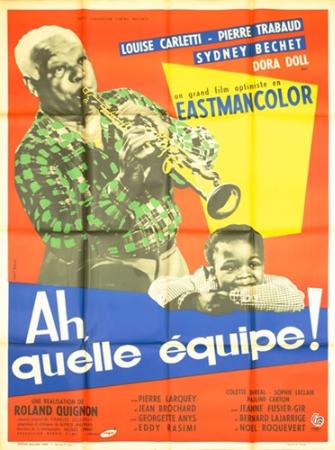 affiche cinéma Ah qu'elle équipe, Affiches anciennes (cinéma, theâtre, publicitaire), Image | Puces Privées