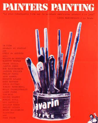 affiche cinéma originale 1973.Jackson Pollock,Andy Warhol,Emile De Antonio | Puces Privées