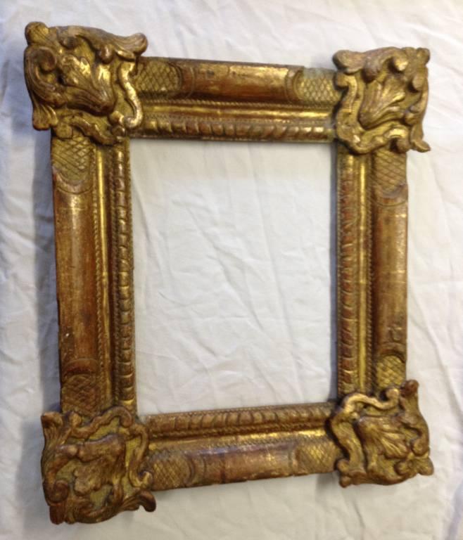 Cadre en bois doré époque Louis XIV   Puces Privées