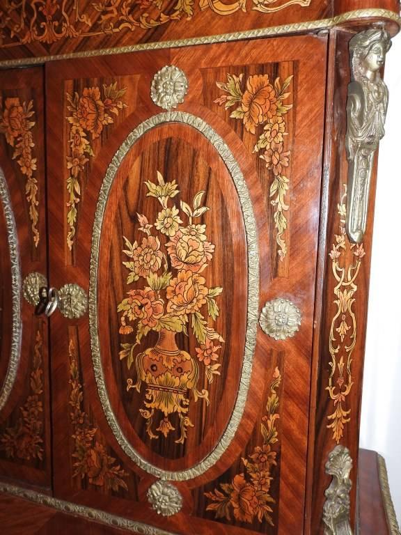 Cabinet bonheur du jour ancien dans le style Louis XIV | Puces Privées