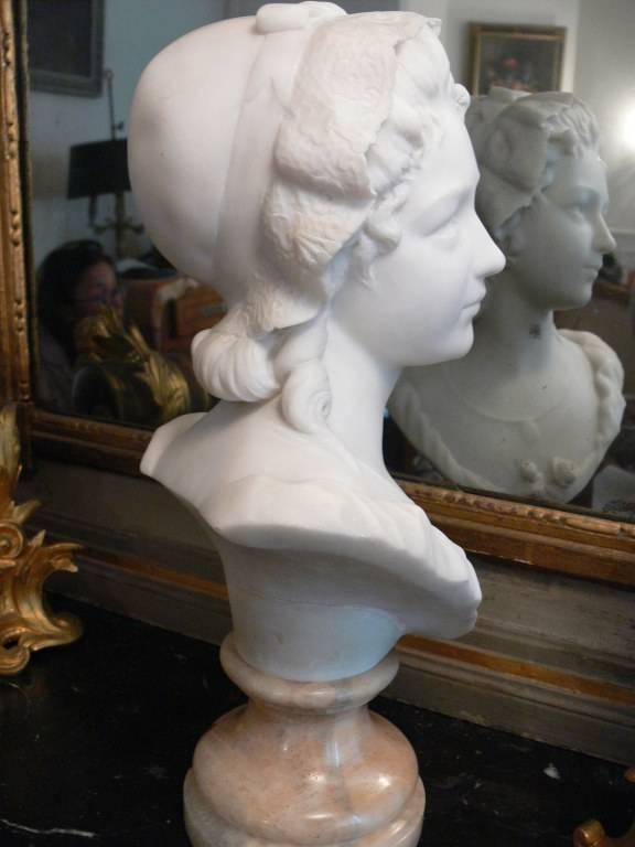 Buste en marbre signé R. JEANNIN XIX éme | Puces Privées