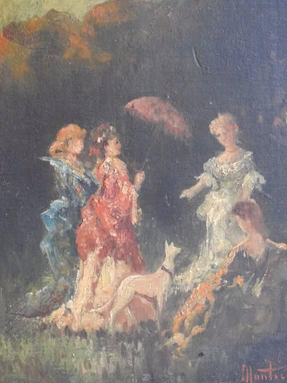 Huile sur panneau portant une signature Monticelli 1824-1886 | Puces Privées