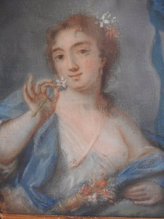 Pastel XVIIIème siècle: Portrait de jeune femme | Puces Privées