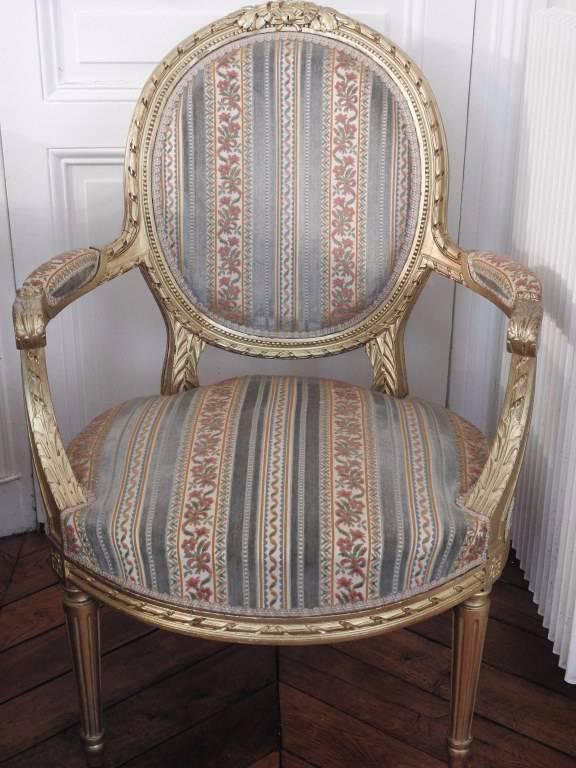 Paire de fauteuils Louis XVI. | Puces Privées