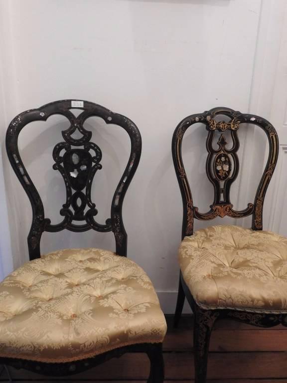 Paire de Chaises Napoléon III . | Puces Privées