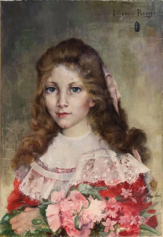 Huile sur toile de Louise GABILLOT VAN PARYS (? -1879) XVIIIème siècle. | Puces Privées