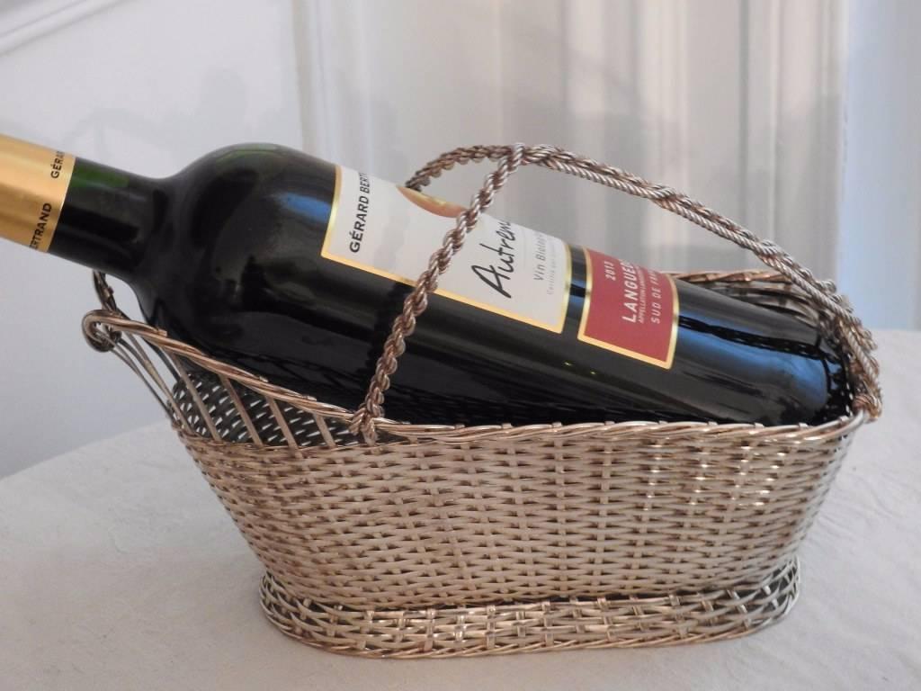 Panier à vin en métal argenté christofle.   Puces Privées