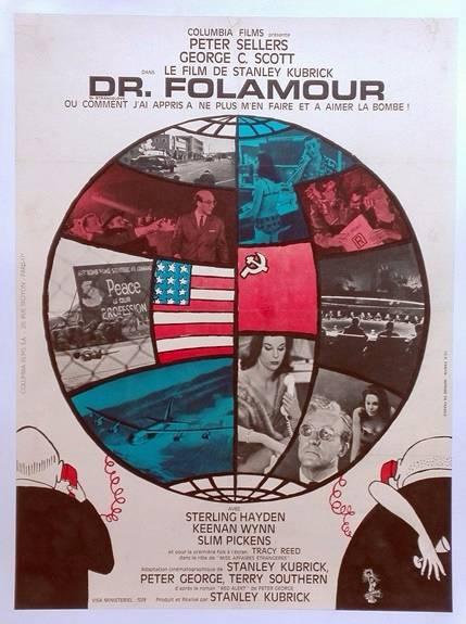 Docteur Fomaour,Stanley Kubrick.affiche cinéma originale 1964.60x80 entoilée | Puces Privées