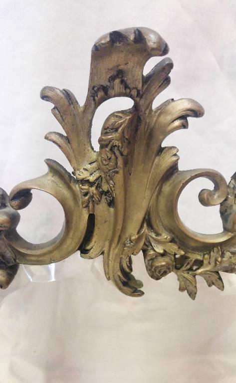Miroir de toilette style Louis XV en bronze | Puces Privées