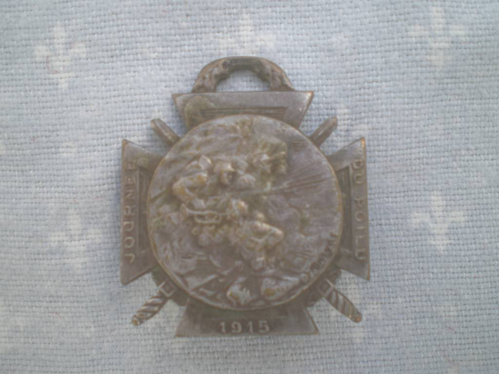 medaille francaise journee de poilu de 1915 grande guerre | Puces Privées