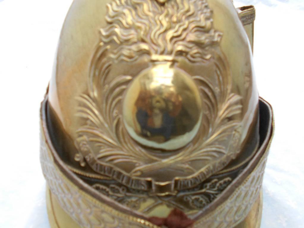 casque de troupe de sapeur pompier francais modele 1845 | Puces Privées