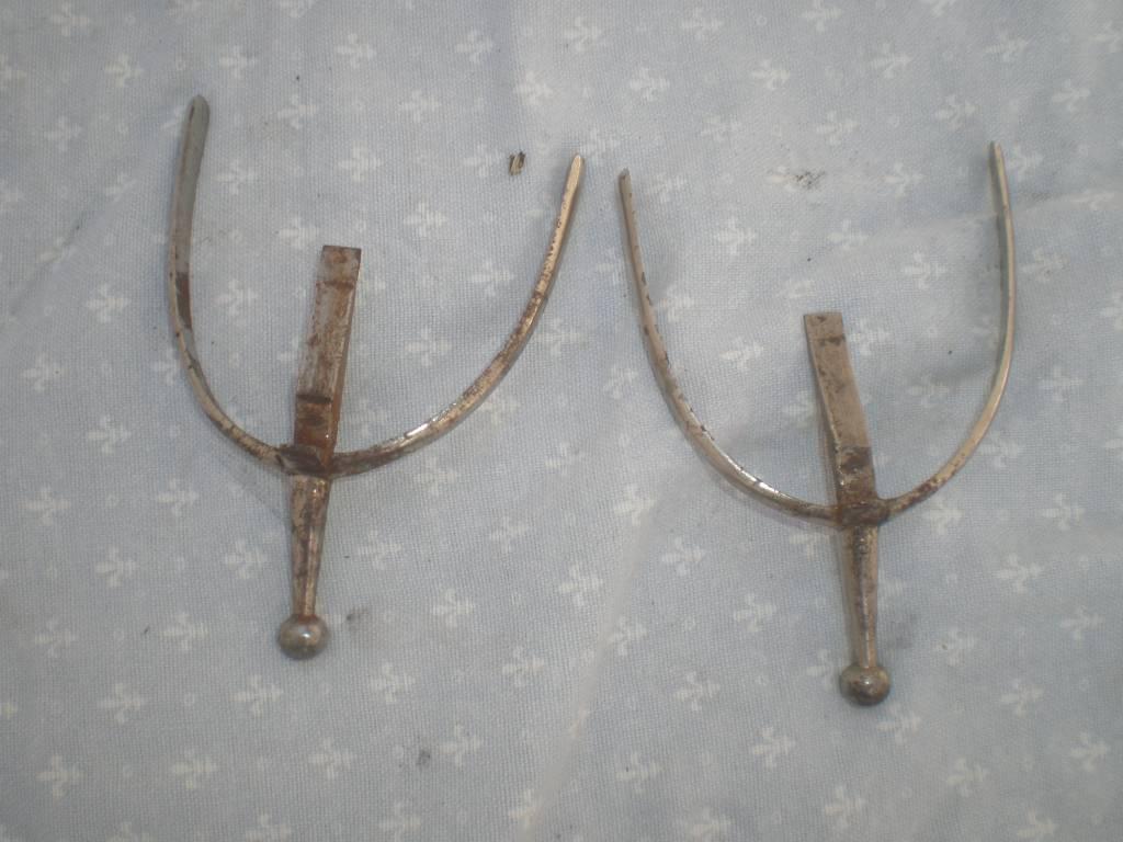 paire d eperons d officier francais pour botine de 1 et 2 guerre | Puces Privées