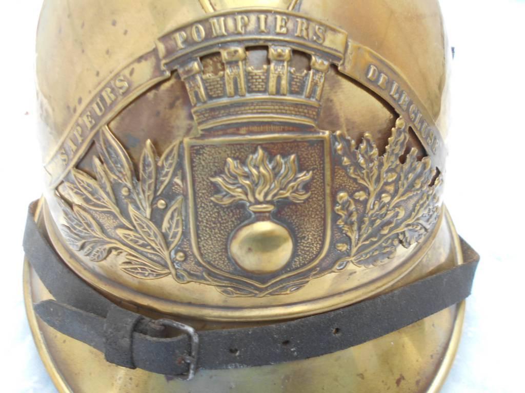 casque de francais de troupe de sapeur pompier | Puces Privées