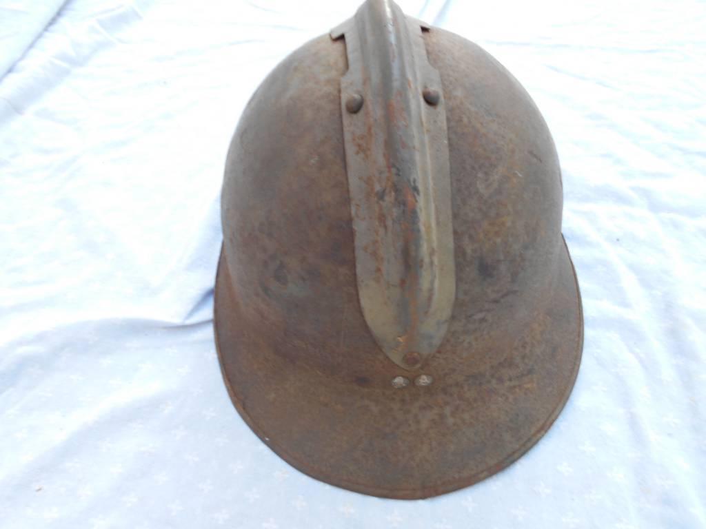 rare casque adrian francais de 2 guerre poudre et salpetre   Puces Privées