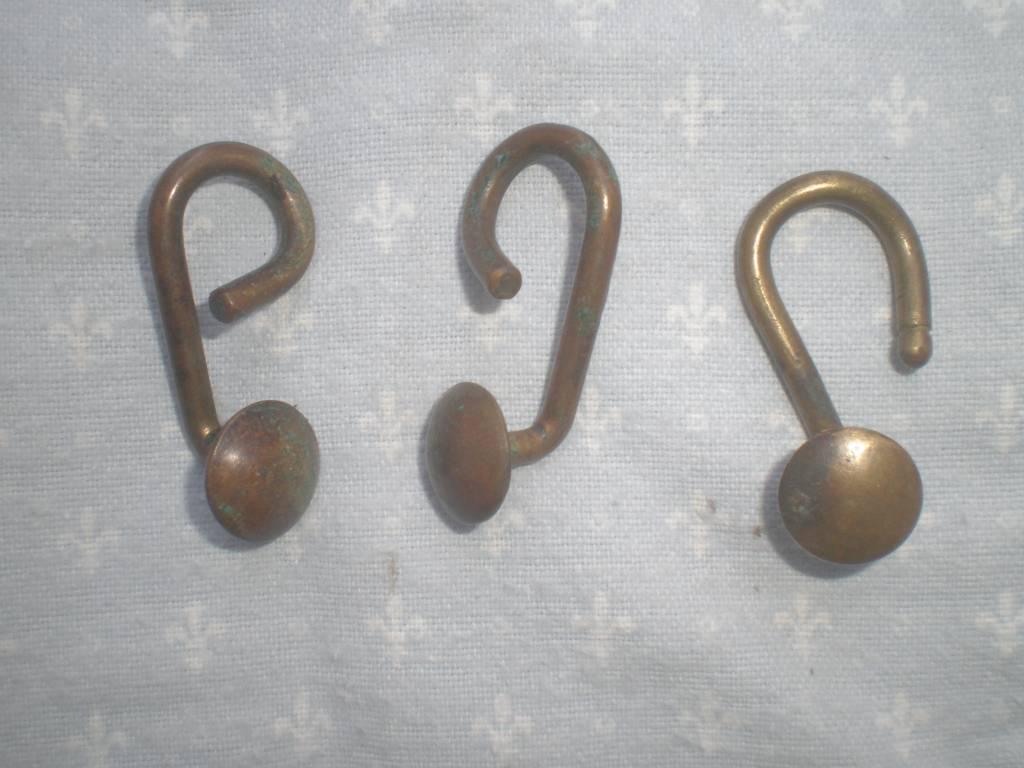 trois crochets de suspention reglementaire de brellage de troupe francaise de 1 guerre piou piou   Puces Privées