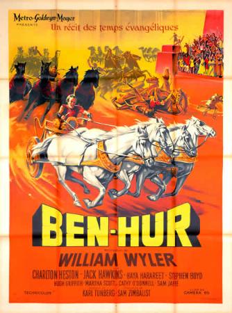 affiche cinéma Ben Hur, Affiches anciennes (cinéma, theâtre, publicitaire), Image | Puces Privées