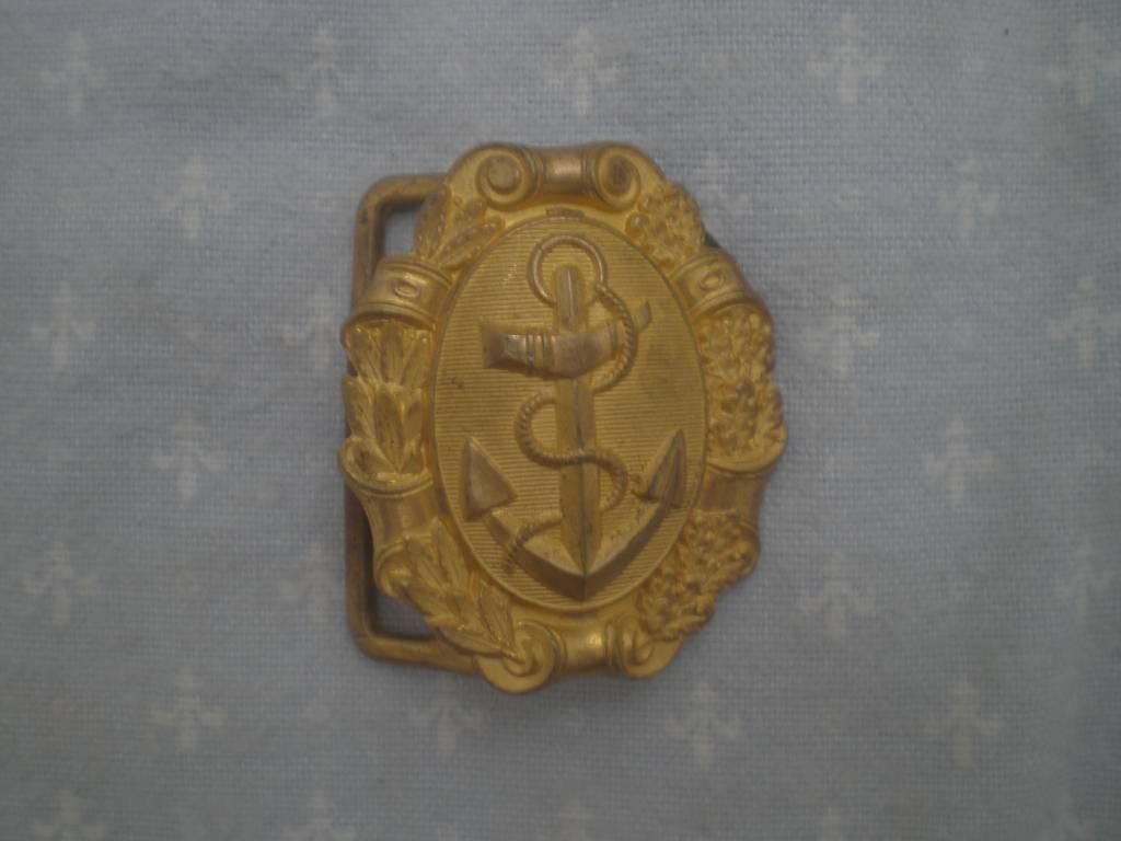 boucle de ceinturon d officier de marine militaire francaise | Puces Privées