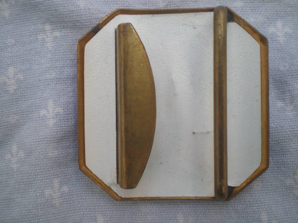 boucle de ceinturon de troupe de marine francaise 1950 | Puces Privées