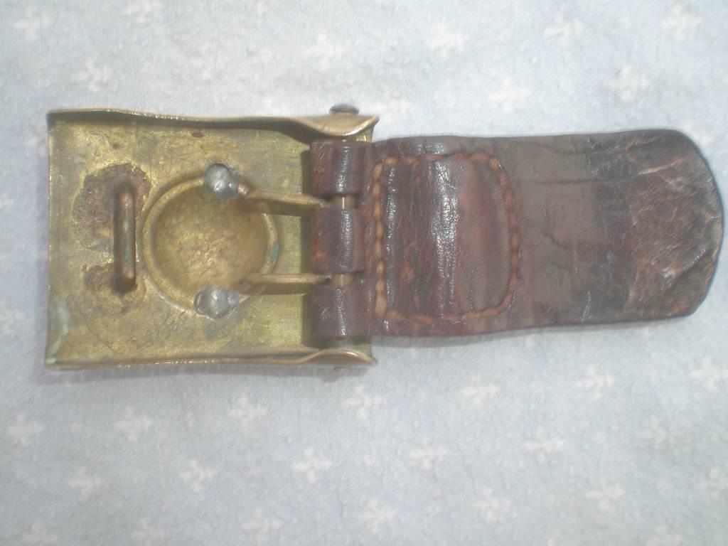 boucle de ceinturon prussienne modele 1895 allemande et son cuir | Puces Privées