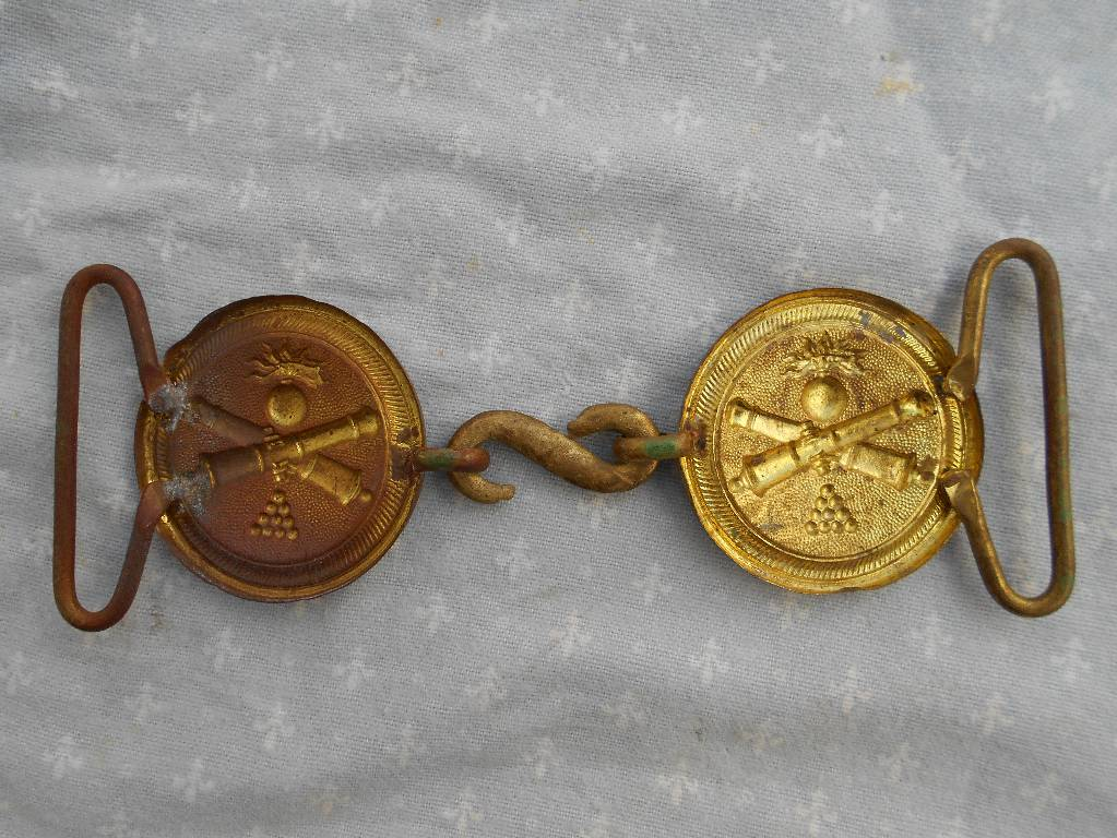 boucle de ceinturon d officier de l artillerie francaise modle 1845   2 empire   Puces Privées