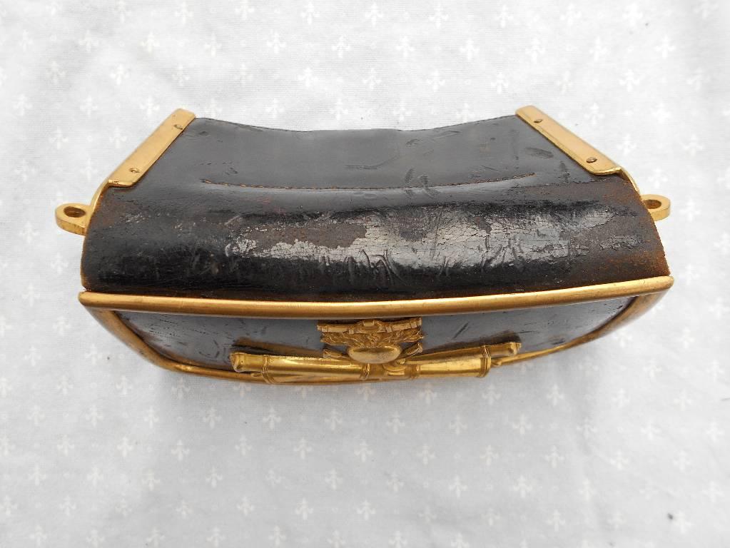 giberne de d officier de l artillerie de marine francaise modele 1845  2 empire | Puces Privées