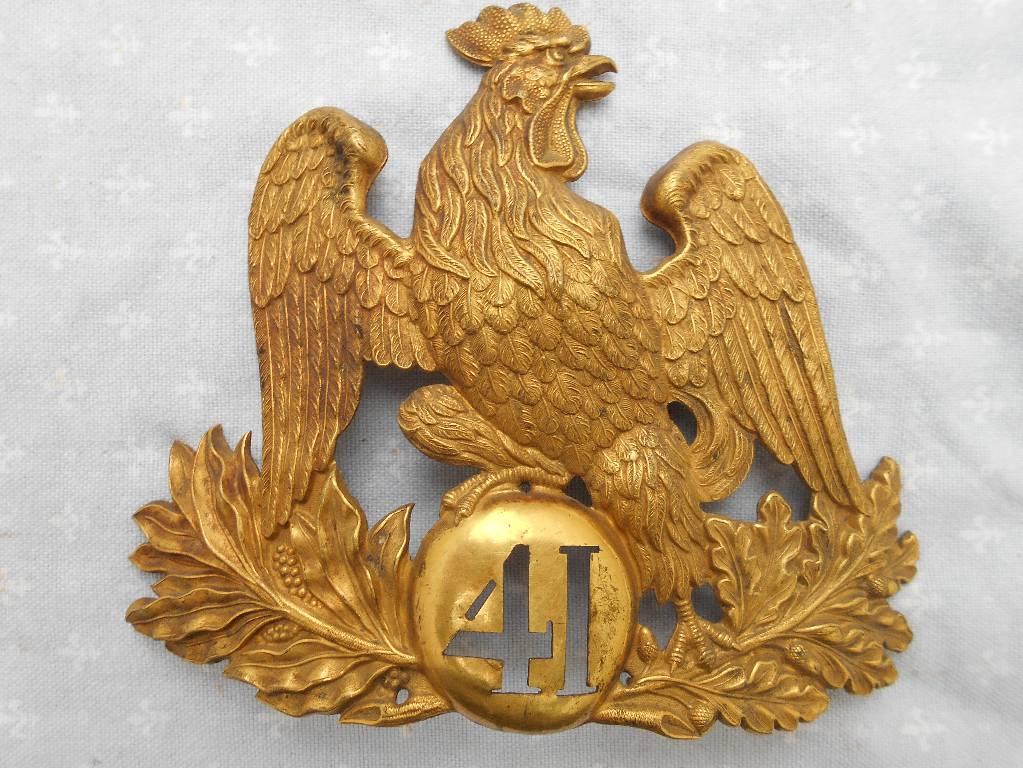 plaque de chakos francais modele 1845 louis philippe   Puces Privées