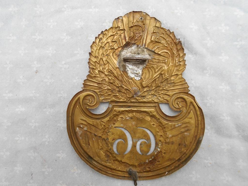 plaque de chakos francais modele 1830 louis philippe   Puces Privées