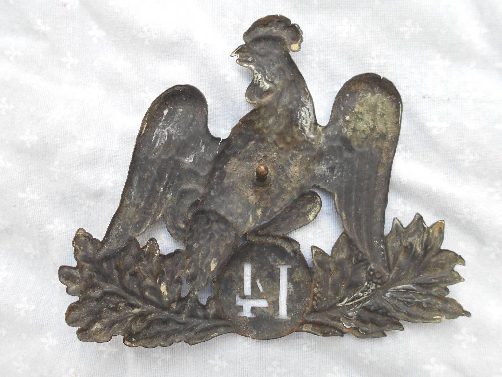 plaque de chakos francais modele 1845 de troupe loui philippe | Puces Privées