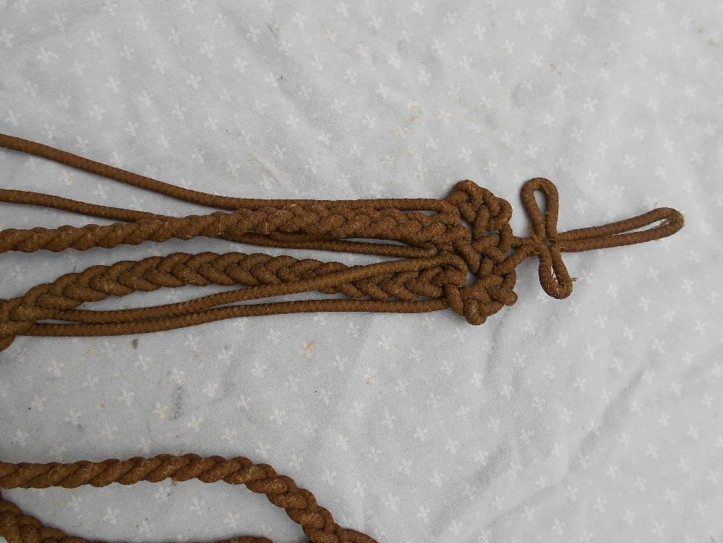 aiguilette d officier de marine francaise restauration 1830   Puces Privées